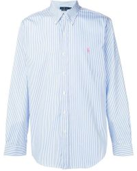Ralph Lauren - Camisa de rayas con botones - Lyst