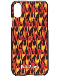 Palm Angels IPhone XR-Hülle mit Flammen - Schwarz