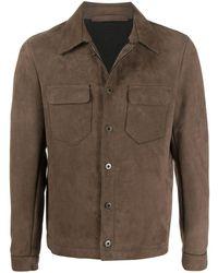 Salvatore Santoro ポインテッドカラー ジャケット - ブラウン