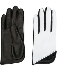 Manokhi Bicolour Gloves - Black