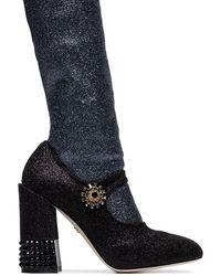 Dolce & Gabbana ソックスインサート レザーブーツ - ブラック