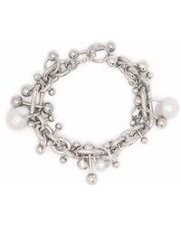 Acne Studios Pearl-embellished Beaded Bracelet - Metallic
