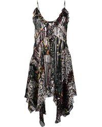 Etro - Sheer Floral Print Dress - Lyst