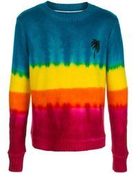 The Elder Statesman Jersey de efecto degradado - Multicolor