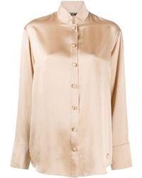 Balmain シルクシャツ - ブラウン