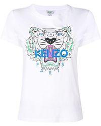KENZO - Camiseta con estampado de tigre - Lyst