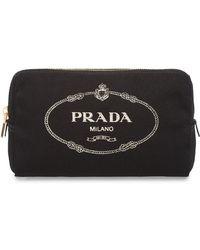Prada - Fabric Cosmetic Pouch - Lyst