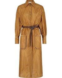 Fendi Vichy シルクドレス - マルチカラー