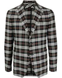 Tagliatore チェック シングルジャケット - ブラック