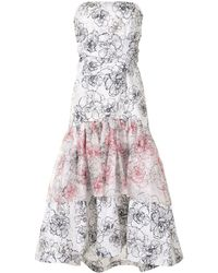 Silvia Tcherassi Allerona フローラル ドレス - ホワイト