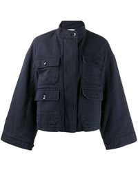 Closed Wide Sleeve Jacket - Blue