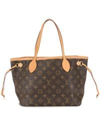 Louis Vuitton Borsa tote Neverfull PM 2015 Pre-owned - Marrone