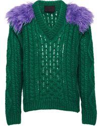 Prada - フェザーディテール セーター - Lyst