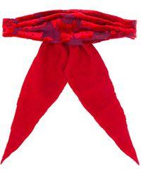 Ann Demeulemeester Bow Hair-tie - Red
