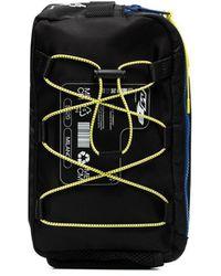 Marcelo Burlon Black Logo Patch Lace-up Cross Body Bag
