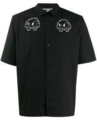 McQ Рубашка С Короткими Рукавами И Вышивкой - Черный