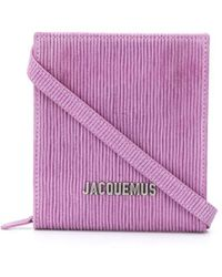 Jacquemus Logo-lettering Striped Shoulder Bag - Pink