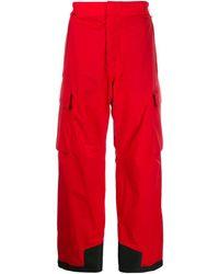 3 MONCLER GRENOBLE Gortex Ski Bottoms - Red