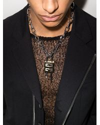 Givenchy Giv Lock Chain Necklace Gold - メタリック