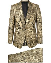 Dolce & Gabbana Floral Brocade Two-piece Suit - Metallic