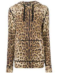 Dolce & Gabbana - レオパード カシミアパーカー - Lyst