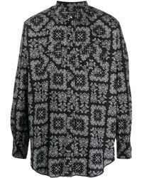 Engineered Garments ペイズリー シャツ - ブラック