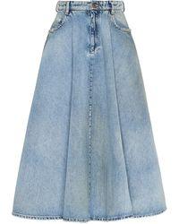 Miu Miu Iconic A-line Skirt - Blue