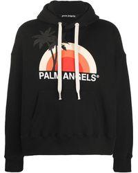 Palm Angels Felpa con stampa - Nero