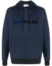 Calvin Klein Hoodie Met Contrasterende Afwerking - Blauw