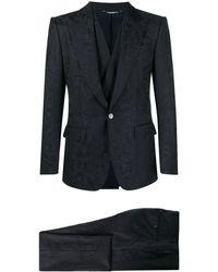 Dolce & Gabbana カモフラージュ スリーピース スーツ - ブルー