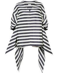 Delpozo - Oversized Striped Coat - Lyst