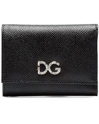 Dolce & Gabbana Cartera DG con strass - Negro