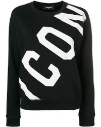 DSquared² - Icon Print Sweatshirt - Lyst