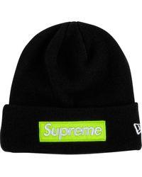Supreme New Era Mütze mit Logo - Schwarz