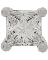 Delfina Delettrez - Orecchino a bottone Dots in oro bianco 18kt con diamante - Lyst