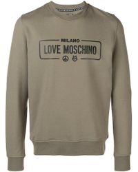 Love Moschino Shirt En Sweat Homme Bleu Pour Lyst Coloris YZxtEwU5