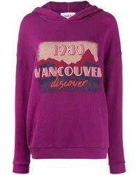 Ba&sh Sweat à capuche Vancouver - Violet