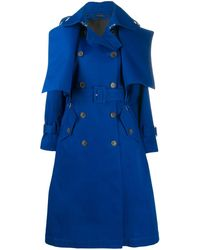Eudon Choi Double-breasted Trench Coat - Blue