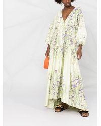 BERNADETTE Floral-print Maxi Dress - Green