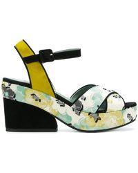 Paola D'arcano - Floral Print Sandals - Lyst