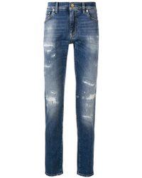 Dolce & Gabbana - Distressed Regular-fit Jeans - Lyst