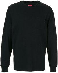 Supreme T-shirt Met Borstzak - Zwart