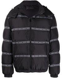 Versace Куртка-пуховик С Логотипом - Черный