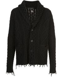 Alanui Fisherman Icon Wool-blend Cardigan - Black