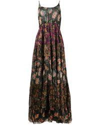 Mes Demoiselles Ярусное Платье С Цветочным Принтом - Черный
