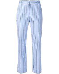 Victoria Beckham クロップドパンツ - ブルー