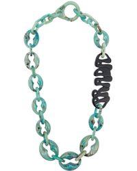 Prada Plexiglass Logo Necklace - Green
