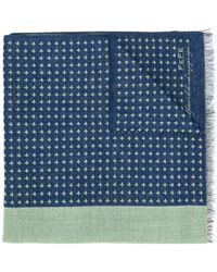 Fefe - Patterned Knitted Scarf - Lyst