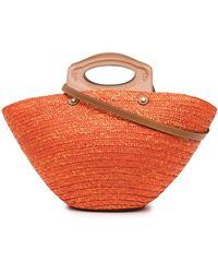 Tod's Medium Straw Tote Bag - Orange