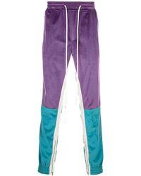God's Masterful Children Velvet Retro Trousers - Purple